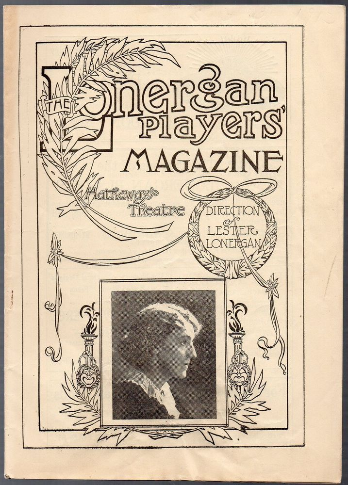"Vintage issue Lonergan Players' Magazine Sept. 1, 1913  ""Under Southern Skies"""