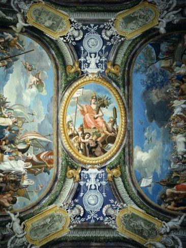 Ancient Hercules Frescos Mythology | Ancient Mythology, Ceiling Frescos, Painted 1772 Fotoprint van ...