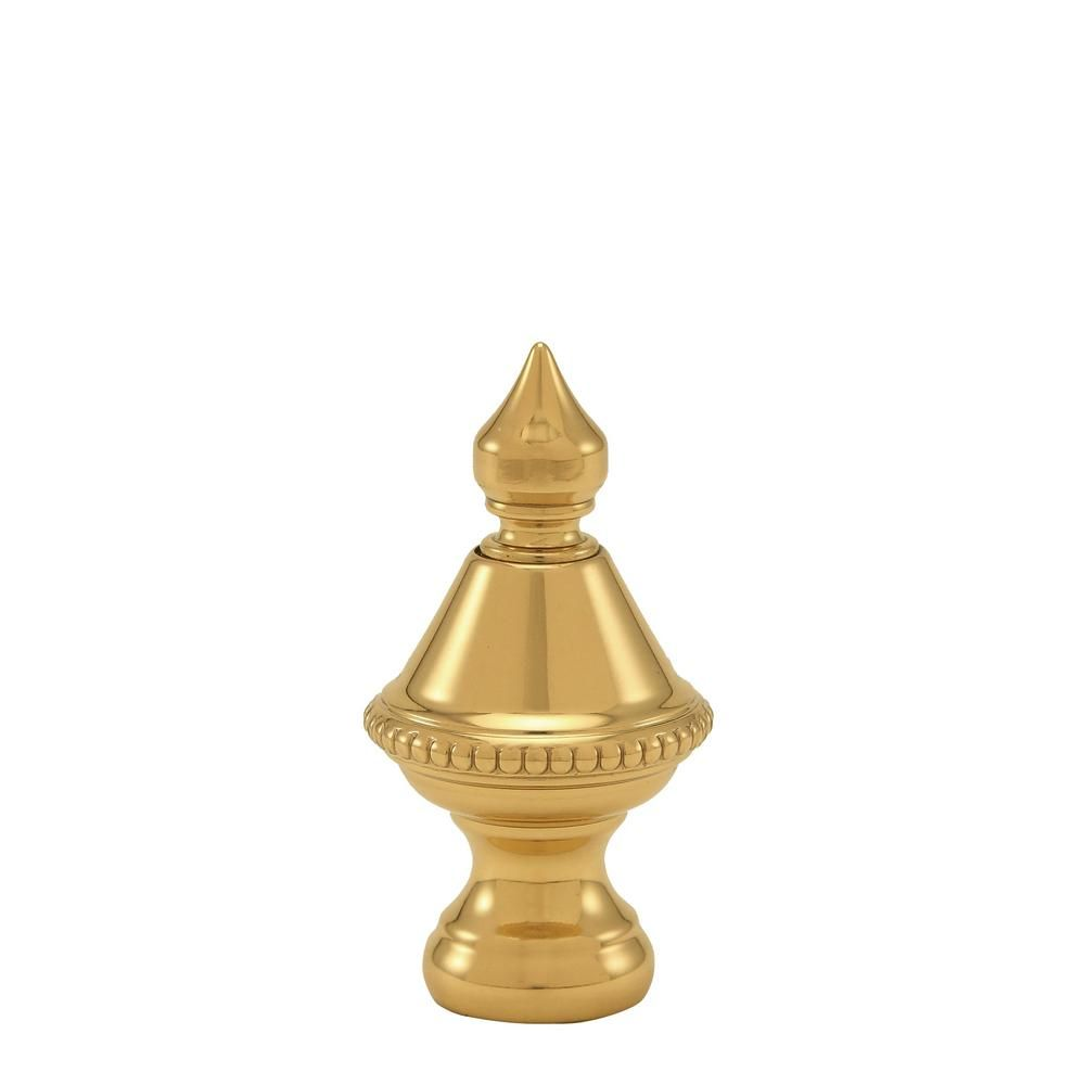 Mario Industries 1 5 In H Polished Brass Beaded Knob Lamp Finial Lamp Finial Fan Light Fixtures Brass Lamp