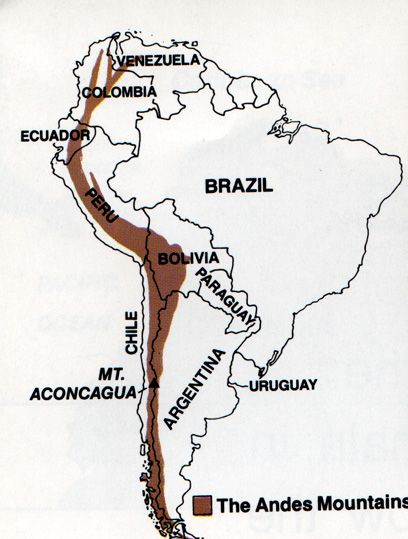 andes map - Google Search | South America