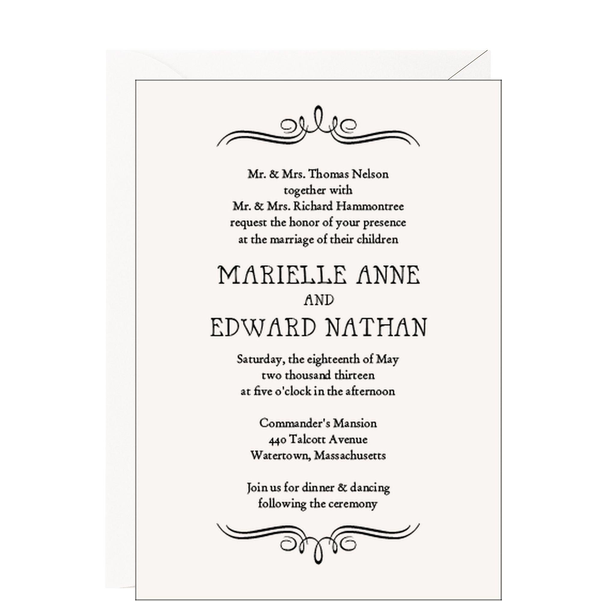 Vintage Marquis Wedding Invitation - Savoy Cotton Heavy | Wedding ...
