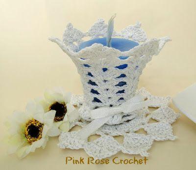 Pink Rose Crochet: Resultados da pesquisa porta velas | Crochet ...