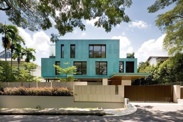 The green house in singapore by k2ld architects • selectism blue housesminimalist housemodern