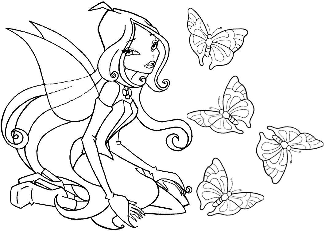Winx fairy and pretty butterfliesFrom the gallery : Winx