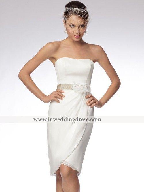 Whimsical knee length beach wedding dress bc619 short for Knee length beach wedding dresses