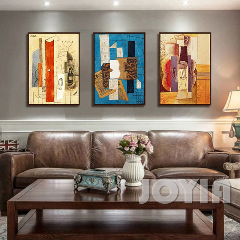 Famous pablo picasso abstract canvas painting still life art poster prints wall pictures for for Best paintings for living room