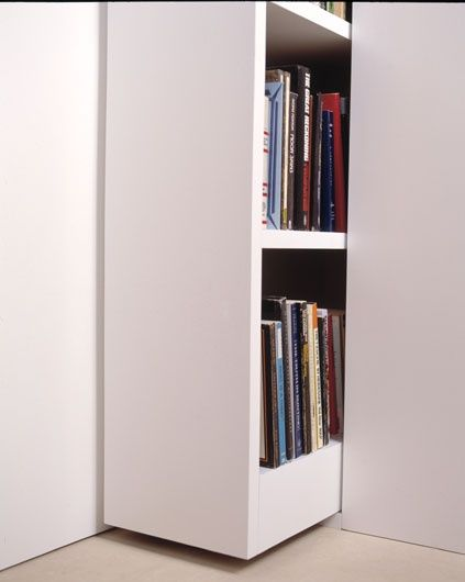 Pull Out Bookshelf For Hidden Storage