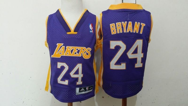 1211caeb647 Toddler Los Angeles Lakers  24 Kobe Bryant Purple Stitched NBA Je ...