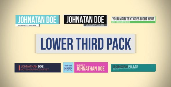 lower third pack ideas lower thirds third motion graphics