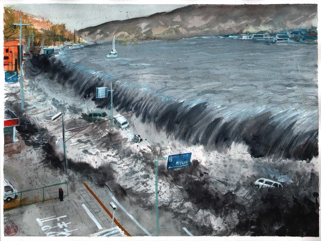 Fukushima Tsunami Japan art