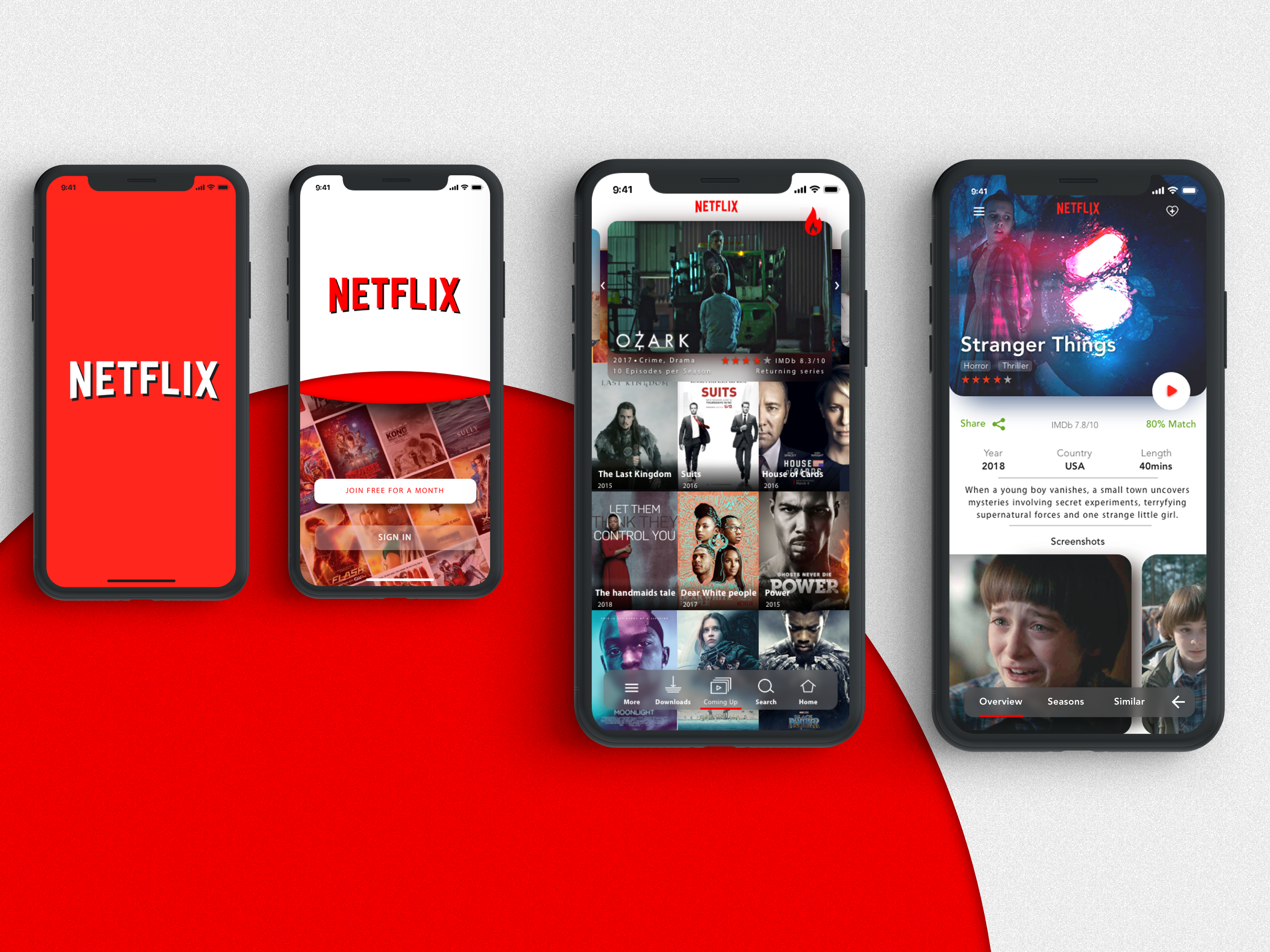 Netflix iOS Mobile Redesign. by O'mara Marvin | Android app design, Netflix  app, Android design
