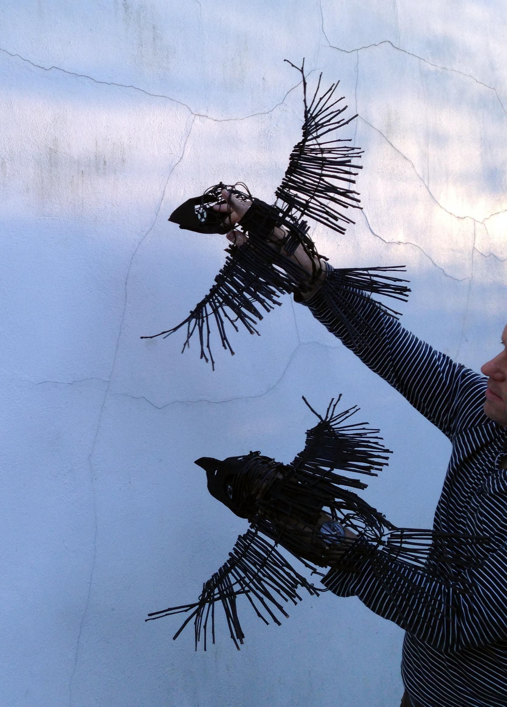 """Flying Crow Puppets Musical """"Into the Woods' Wells Little Theatre May 14 www.duncancameron.org"""