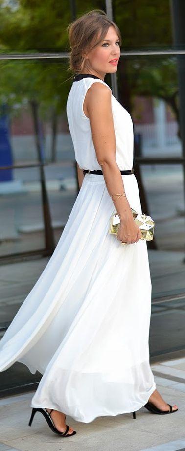 White Tank Maxi Dress