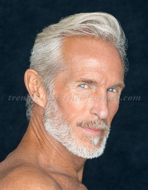 Jack Guy Slicked Back Hairstyle Dudes Style In 2019 Grey Hair