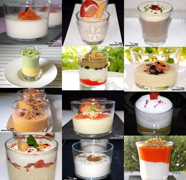 doce aperitivos salados en vaso