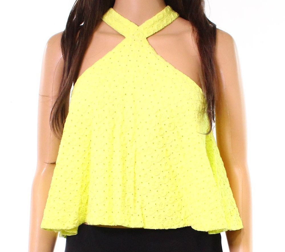 a980fdbedb7 Design Lab NEW Yellow Womens Size Medium M Criss Cross Eyelet Cami Top  59  403  fashion  clothing  shoes  accessories  womensclothing  tops (ebay link)