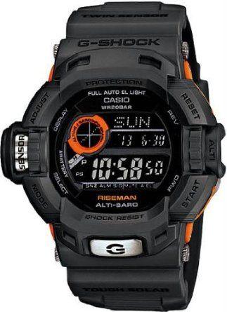 29067097bc76 Mens Limited Edition Black Orange Plastic Resin G-Shock Riseman Tough Solar