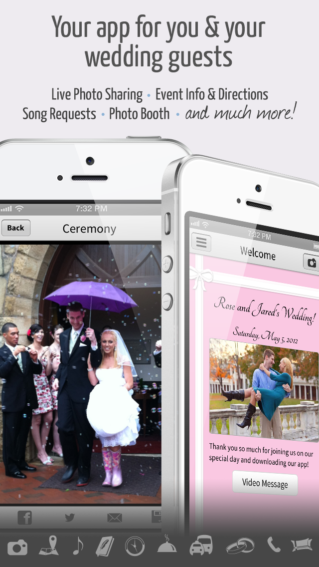 The Married App For Your Wedding Day Totally Using This Custom Wedding App For Guests That S Available On Both Iphone Wedding Apps Mobile Wedding Wedding Dj