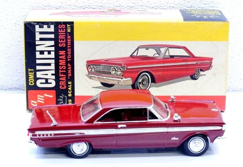 Amt Pro Built Painted Red 64 Mercury Comet Plastic Model Car 1