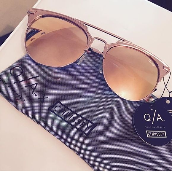 78496ea0968 Quay Australia X CHRISSPY Gemini rose sunglasses Brand new quay Gemini rose  sunnies a collab with chrisspy! Currently Sold out everywhere!