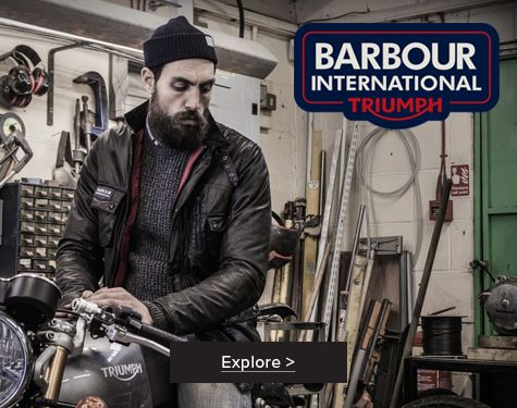 Barbour International Triumph Quilted Jacket Black