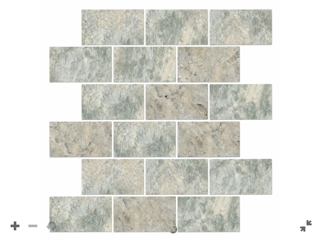 - CLAROS SILVER TUMBLED AMALFI 12 X 12 IN $ 13.99 Sq Ft Coverage 10.10 Sq Ft  Per Box Silver Travertine Tiles, The Tile Shop, Tiles