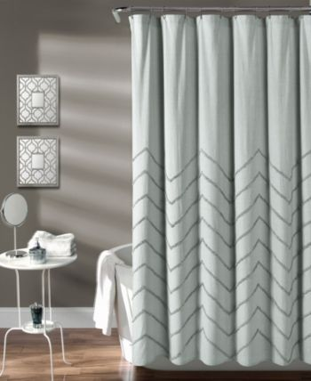 Lush Decor Chenille Chevron 72 X 72 Shower Curtain Reviews