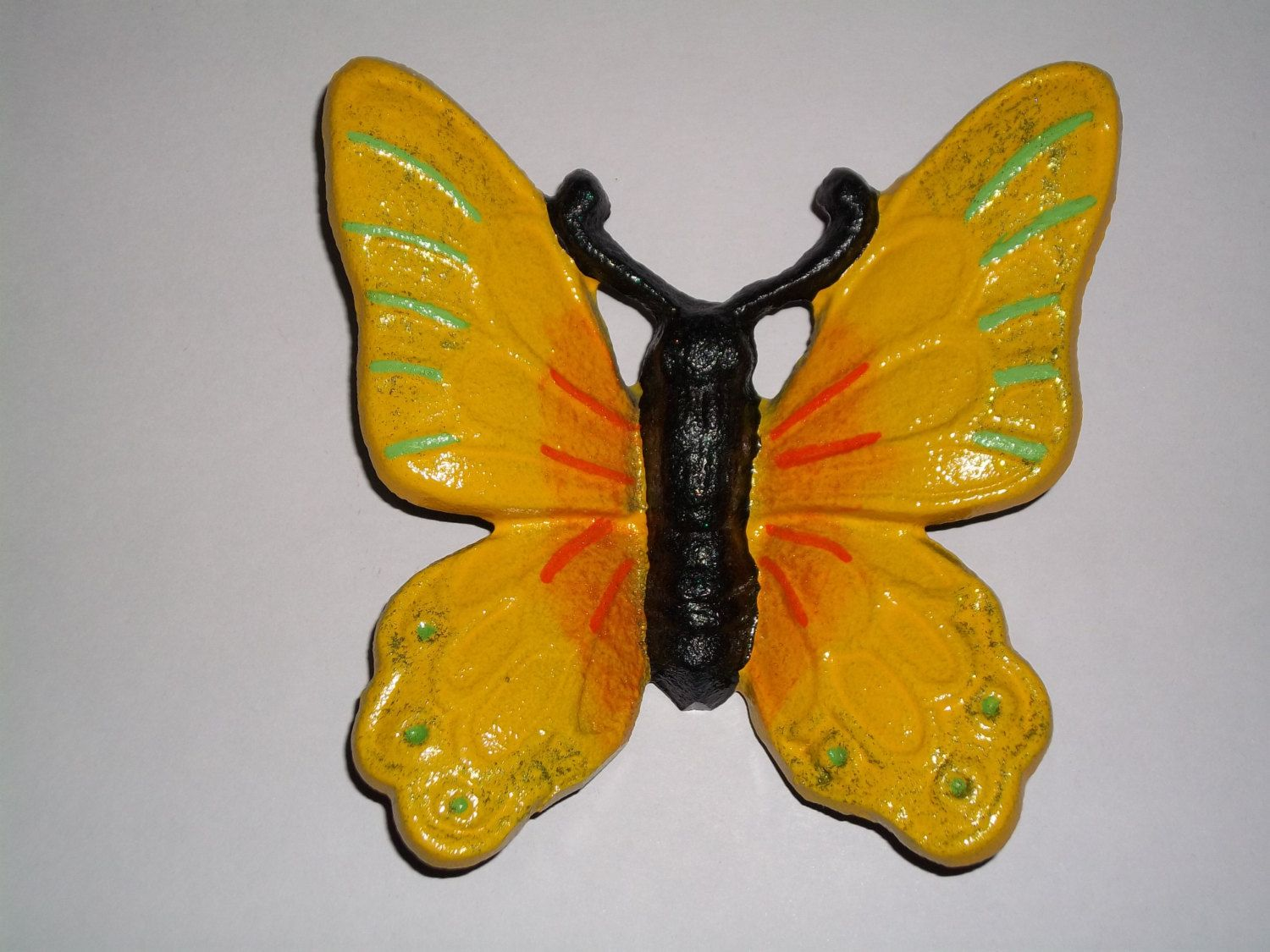 painted iron butterflies | Cast Iron Butterfly / Monarch Butterfly ...