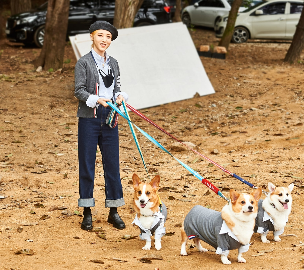 Idols And Their Dogs Team Up In Photos From Mbc S Idol Star Athletics Championship Spin Off Dog Competition Soompi In 2020 Mamamoo Moonbyul Moonbyul Mamamoo