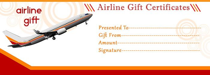 Airline gift certificate template free gift certificate for How to buy plane tickets as a gift