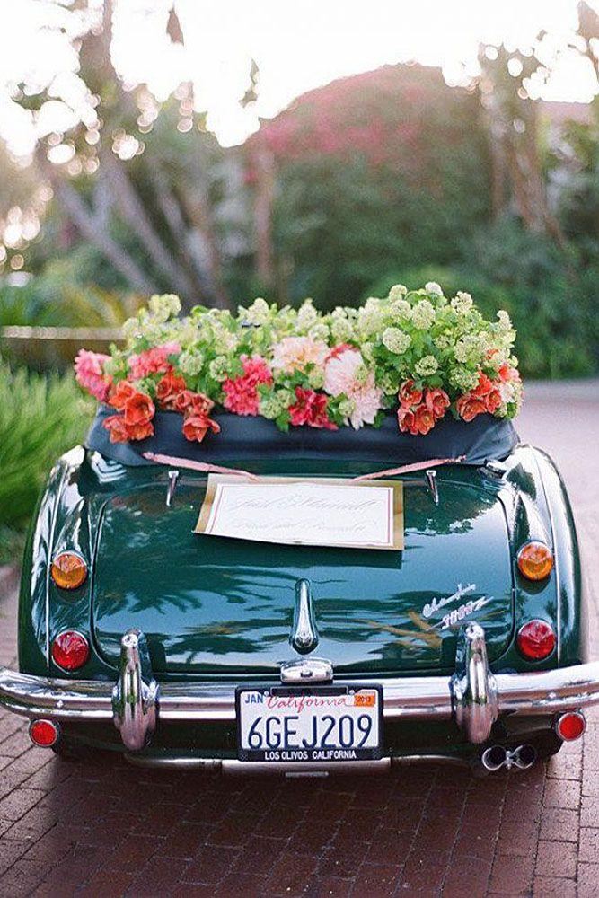 36 Vintage Wedding Car Decorations Ideas Vintage Wedding Cars