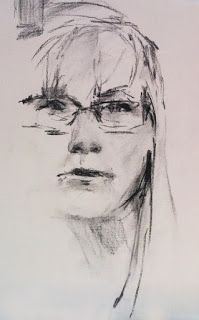 """""""SKETCH OF ME"""" - charcoal by Susan Roden ©; http://www.susanroden.blogspot.com"""