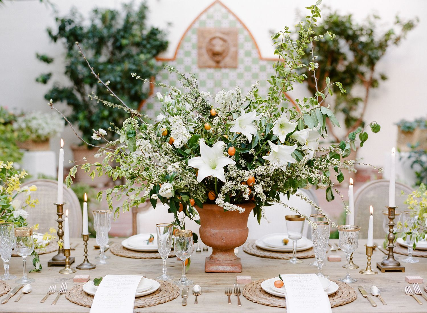 Table spring wedding tablescapes - 25 Gorgeous Spring Wedding Tablescapes