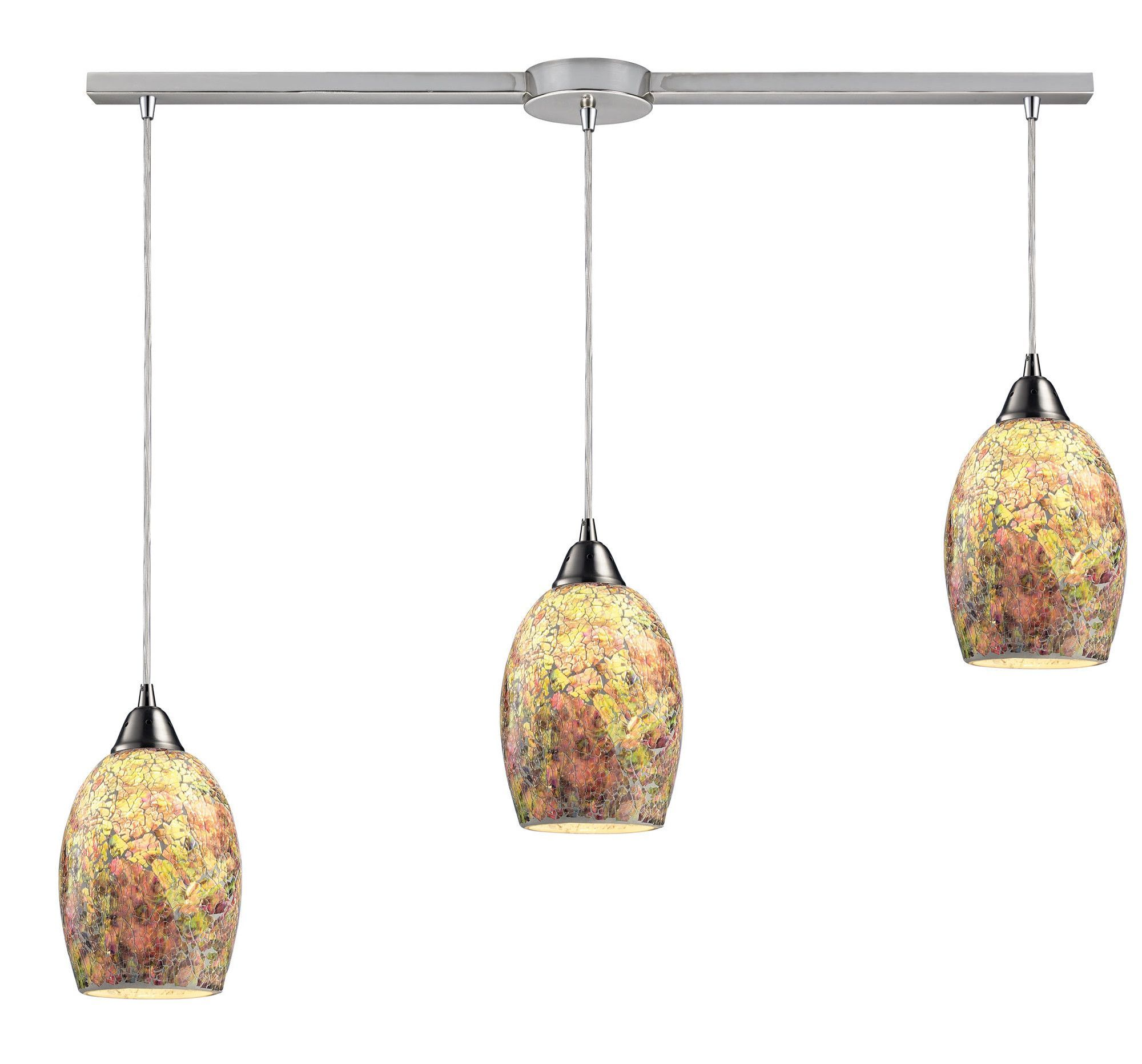 Light candlestyle chandelier pendants changue and island
