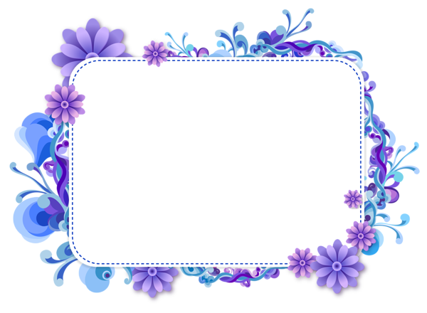 Blue and Purple Vector Frame Krisna