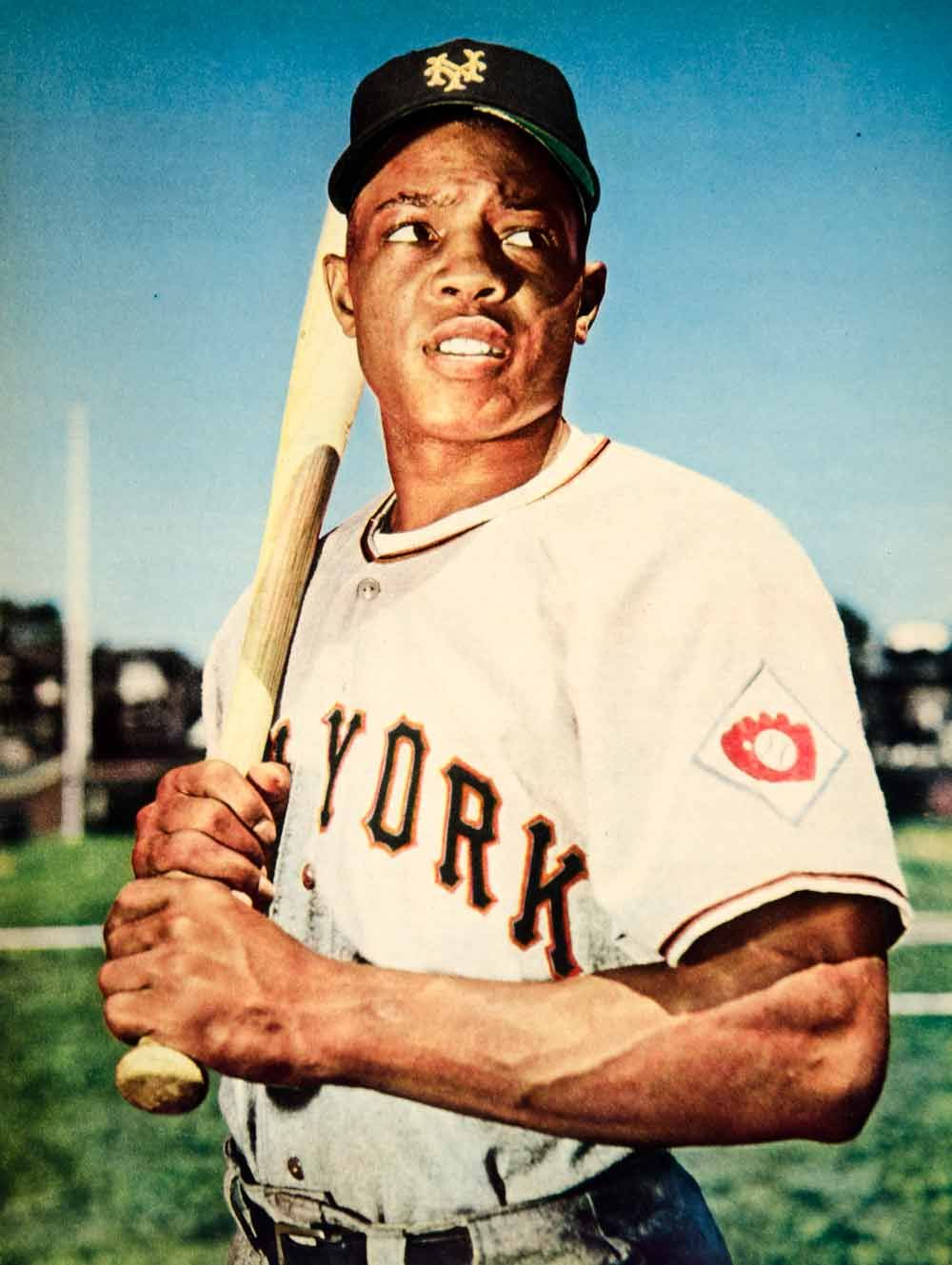 1951 Rotogravure Portrait Willie Mays Say Hey Kid MLB Baseball New York  Giants 21cd4530b