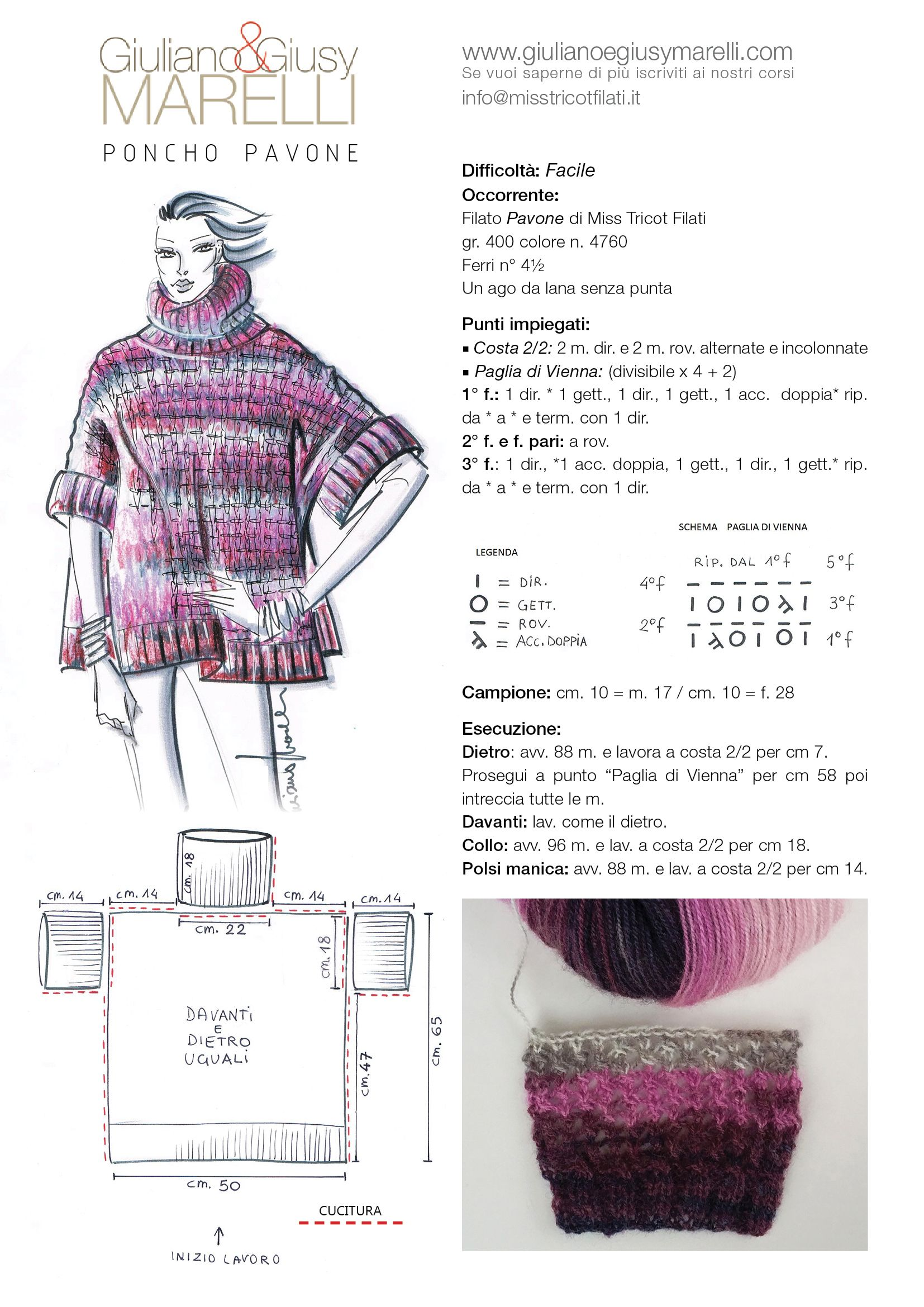 Tutorial_PonchoPavone.jpg | Magliette uncinetto/ maglia | Pinterest ...