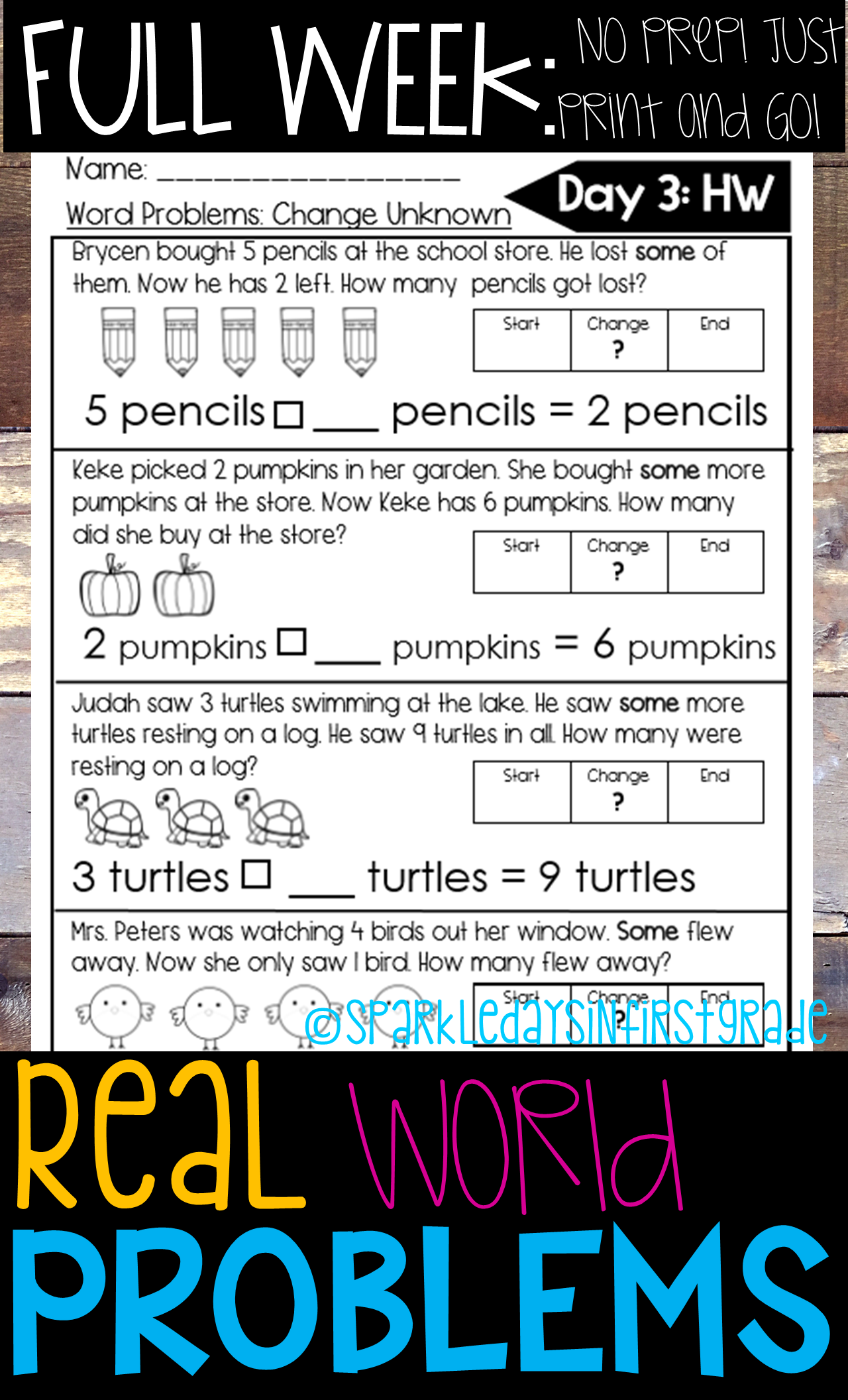 First Grade Math Addition And Subtraction Word Problems To