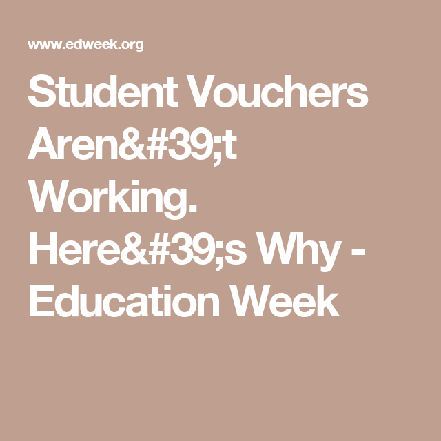 Student Vouchers Arent Working Heres Why >> Student Vouchers Aren T Working Here S Why School Days