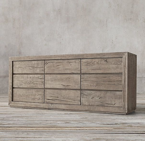 Reclaimed Russian Oak 9-drawer Low Extra Wide Chest | 514: Master ...