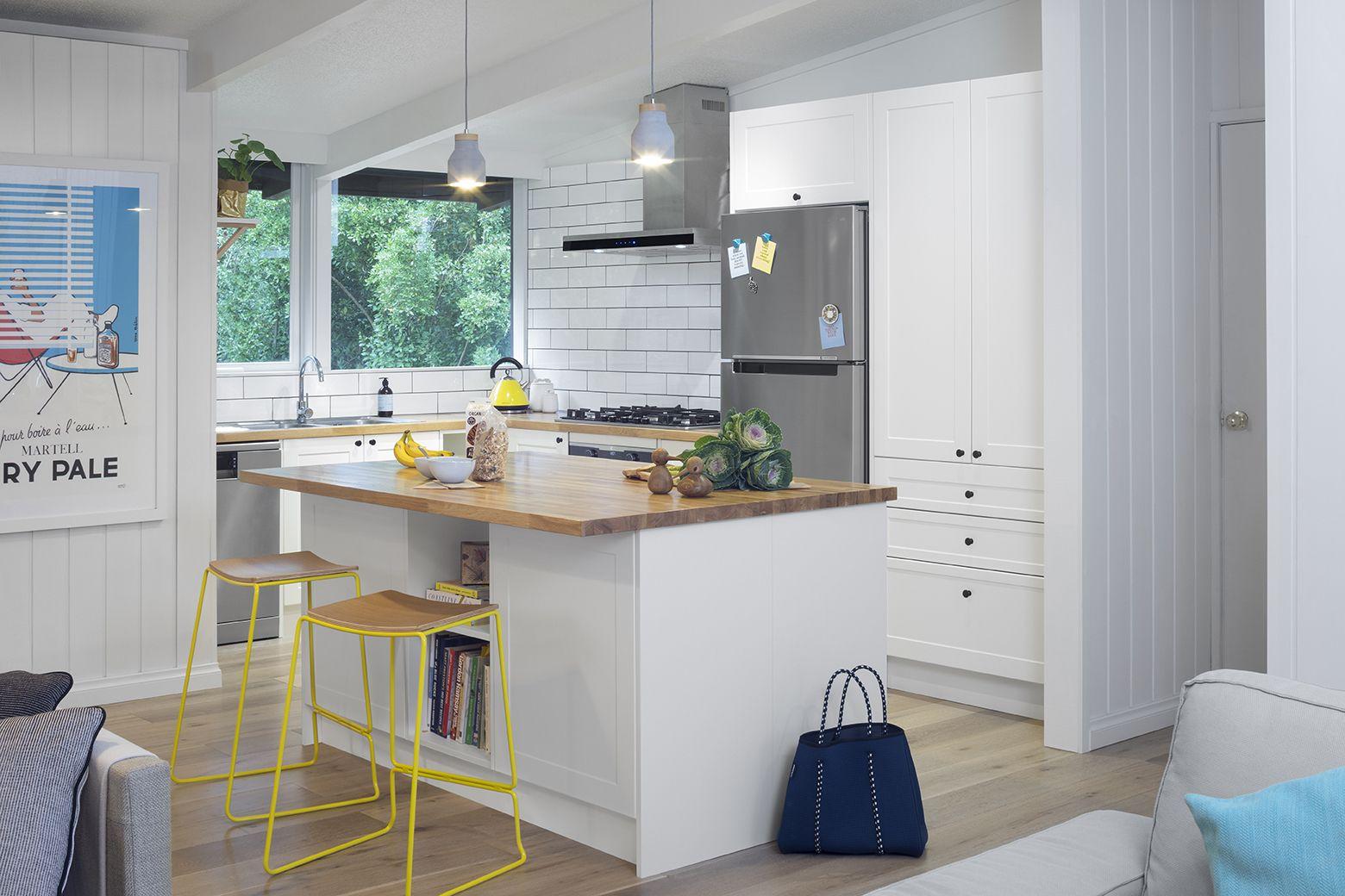 antique white euro oak kitchen side view modern kitchen design kitchen window design modern on kaboodle antique white kitchen id=81115