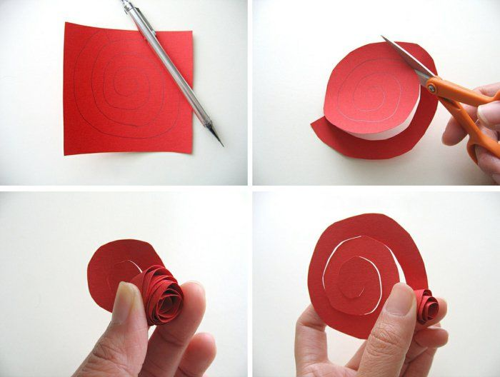 Do It Yourself Deko diy deko dekoideen rote kunstblumen selber basteln papier