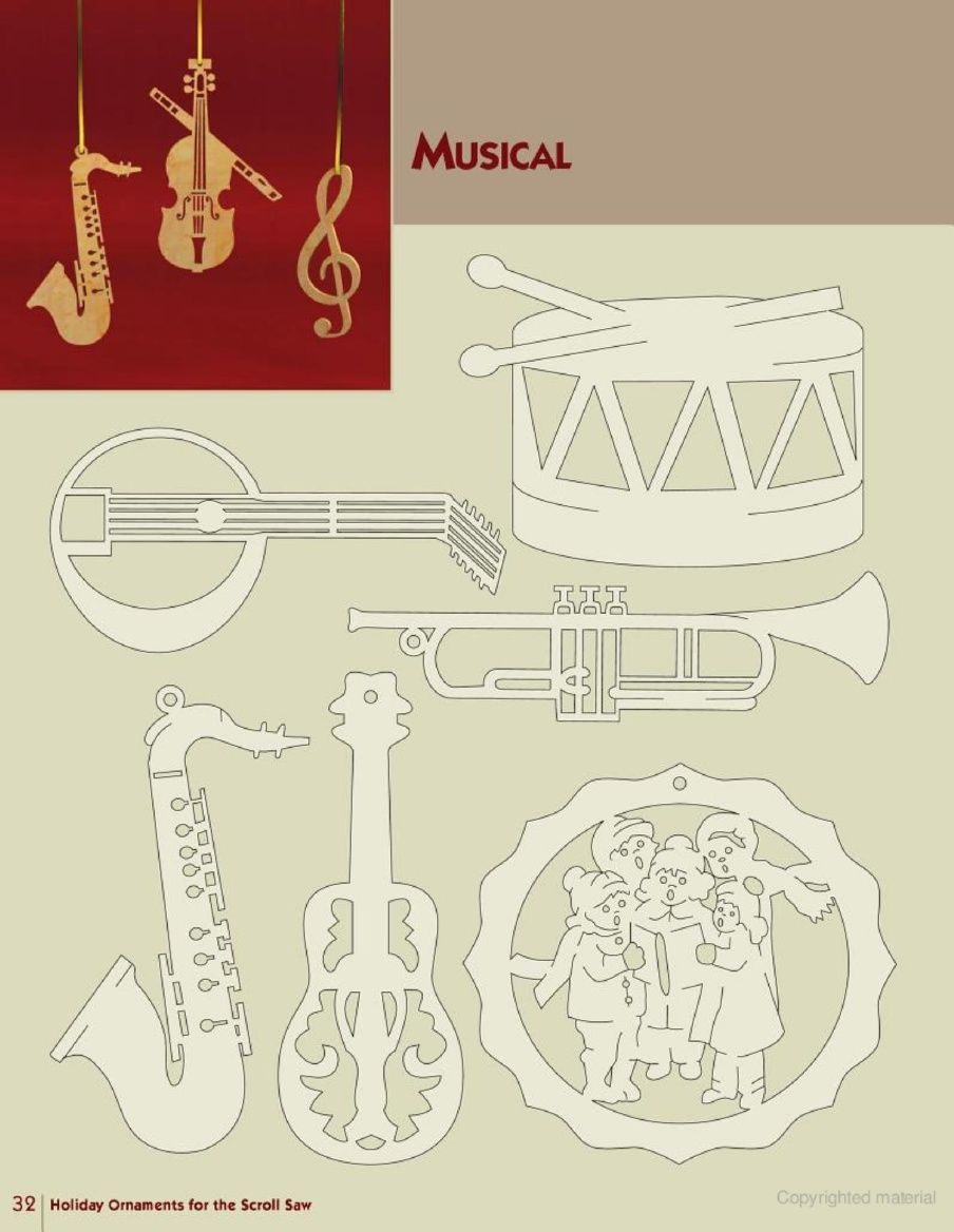 Holiday ornaments for the scroll saw music pinterest ornament