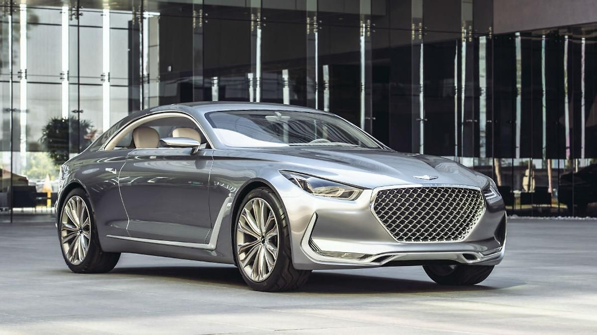 The vision g concept car is a bold dynamic coupe that predicts the styling direction of new genesis learn about the design brand story at genesis usa