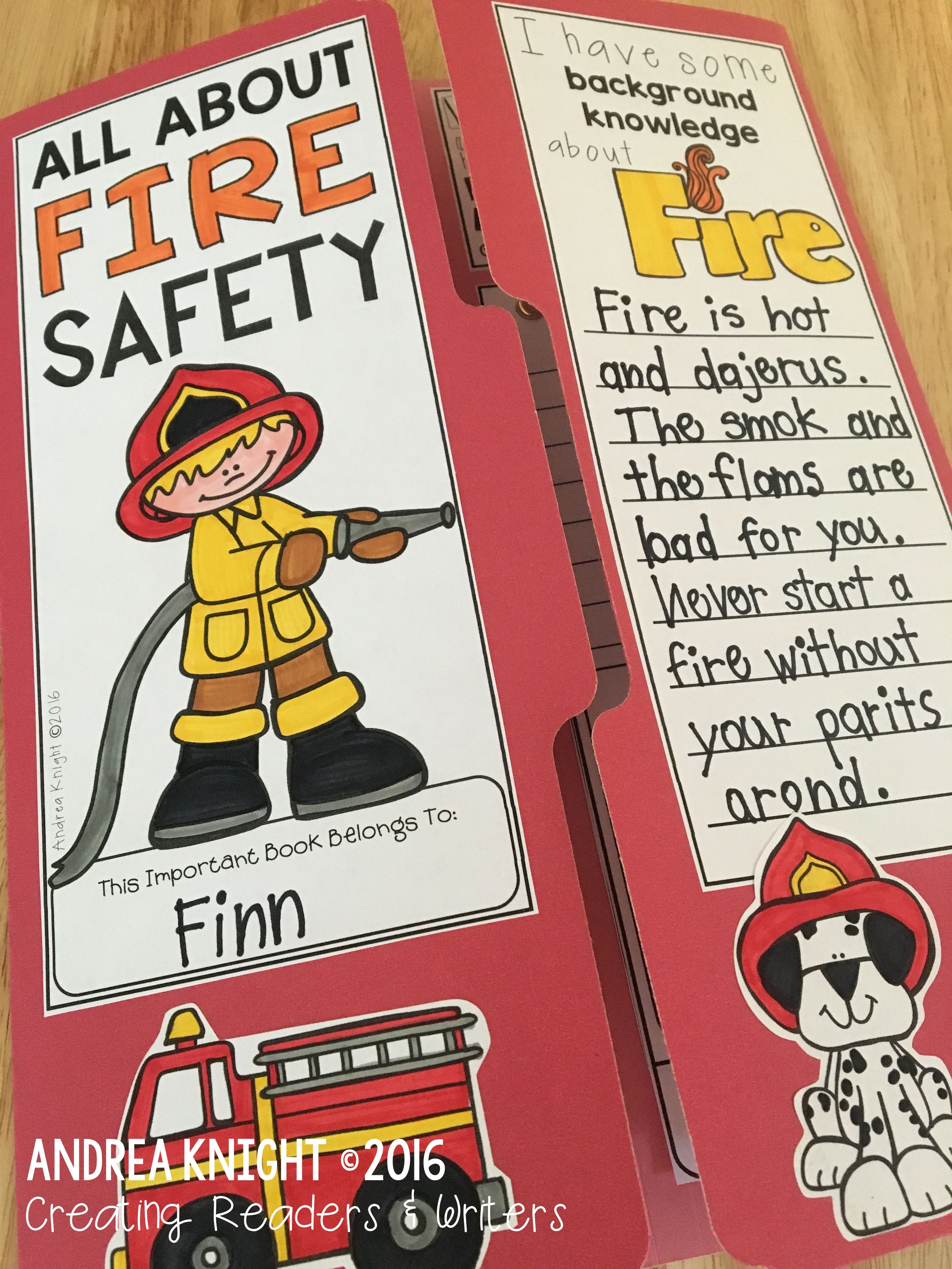 Fire Safety Lap Book A Project For Fire Prevention Month