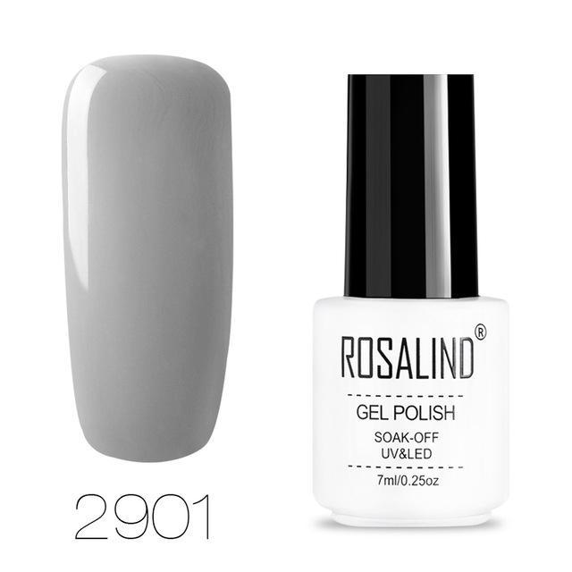 ROSALIND Gel Nagellack 7ML Vernis Semi Permanent Top Coat Maniküre Tränken-Off UV Weiße Flasche Hybrid Gel Für Nagellack   – Products