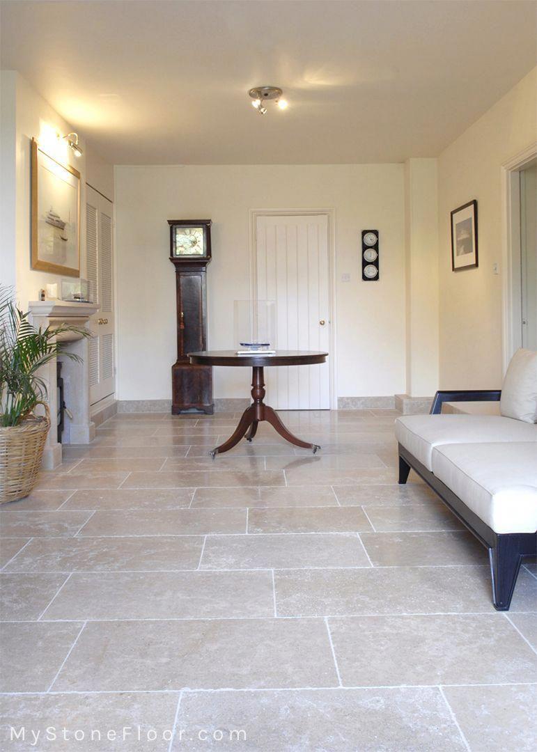 Dijon Tumbled Limestone Tiles And Pavers Mystonefloor Kitchenfloor Tile Floor Living Room House Flooring Living Room Tiles