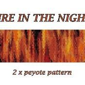 Fire in the night - 2x peyote pattern - via @Craftsy