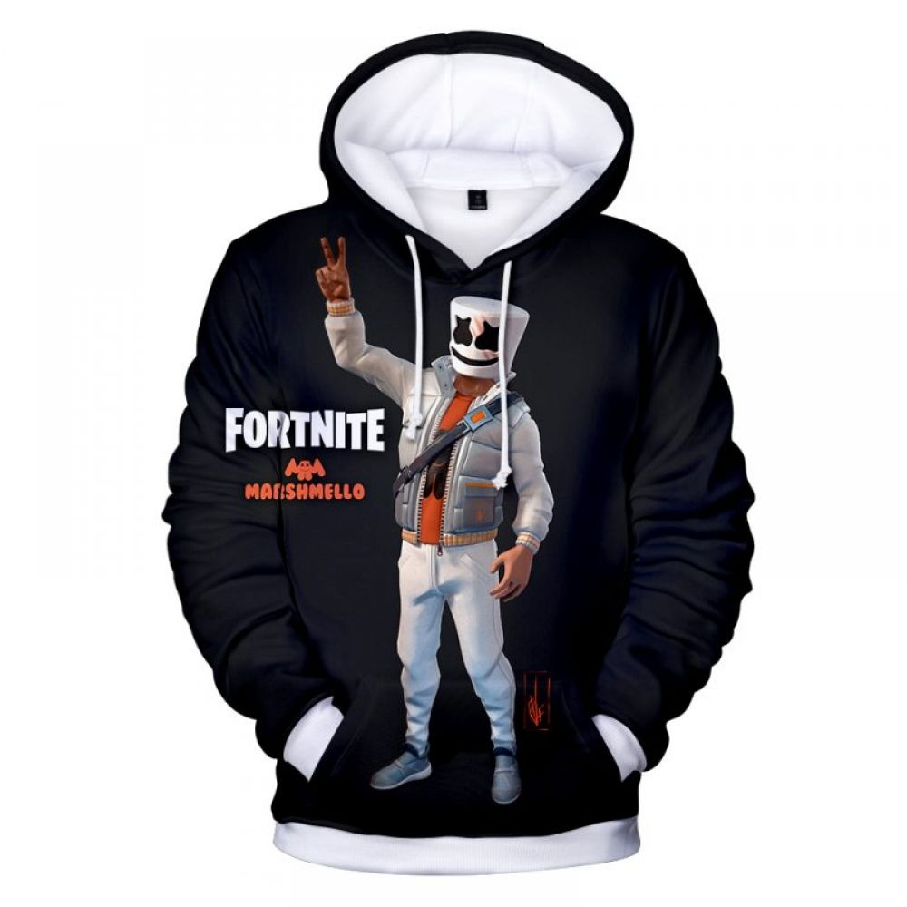 Fortnite Marshmellow Hoodie - 3D Printed Fortnight Hoodie  https   www.animeist. 2dbe402b3226