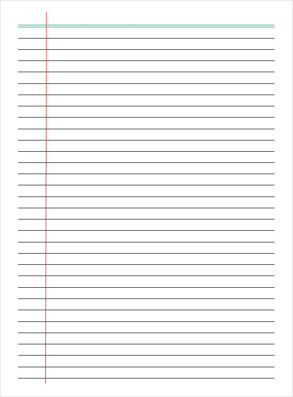 7 Sample College Ruled Paper Templates To Download Notebook Paper Template Paper Template College Rule